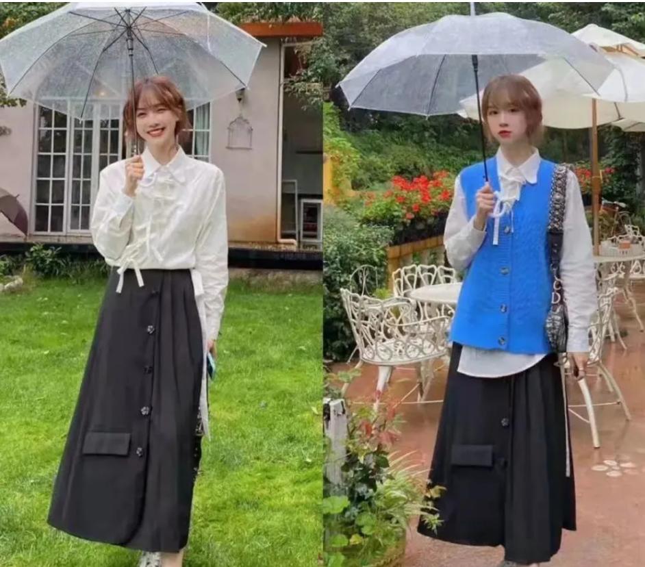 温柔的韩系搭配,凸显气质秀身材!学她这么穿,减龄